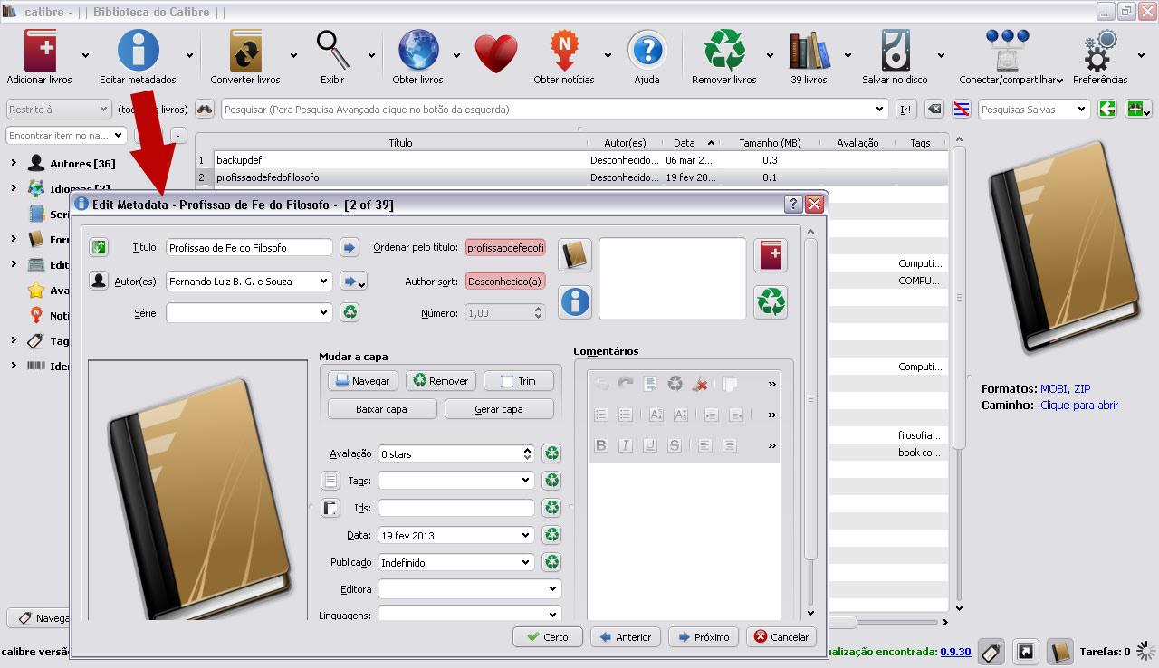 Converter ebooks com calibre