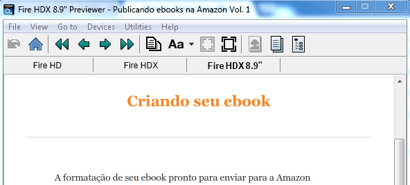 Previewer do Kindle