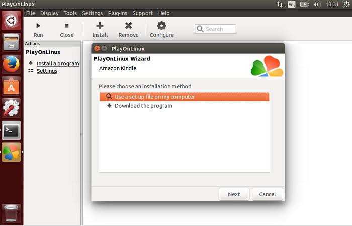 Kindle no Ubuntu