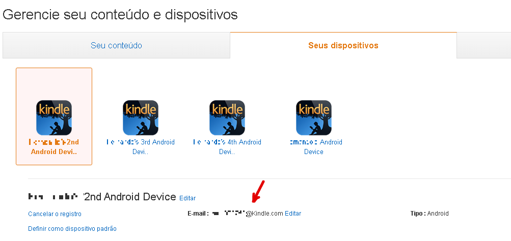 transferir ebook para kindle