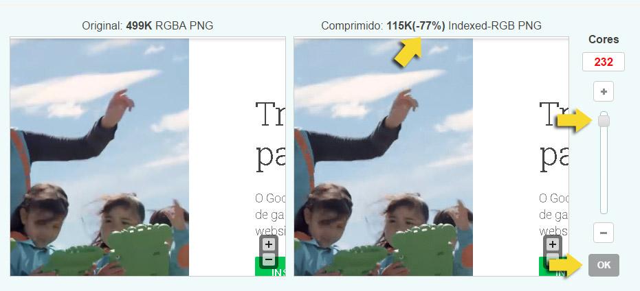 otimizar imagens para ebooks