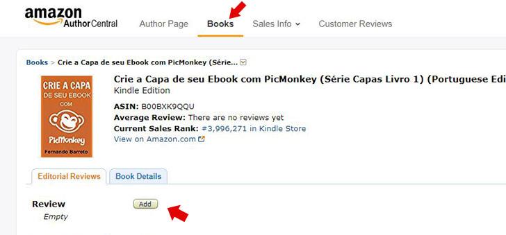Resenhas de ebooks na Amazon