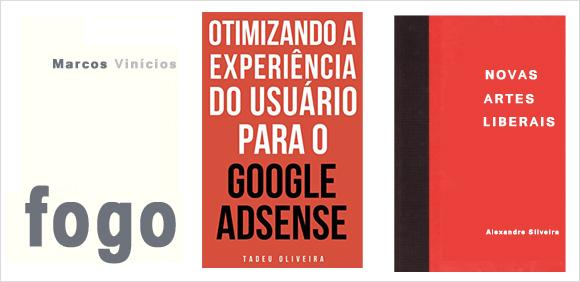 capas de ebooks só com texto