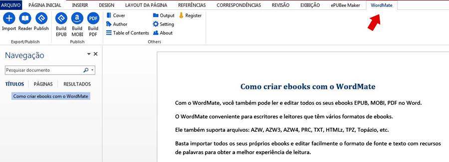 ebook do Word