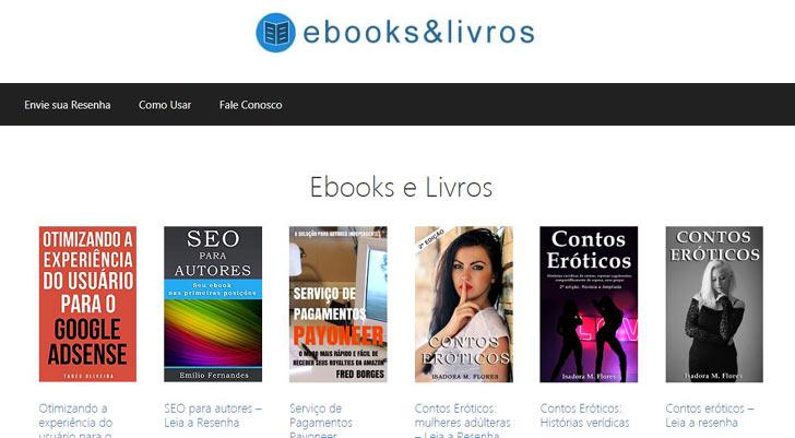 site de resenha livros